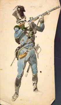 A Rifleman of the Austrian Jaegers by Johan Baptiste Heinefetter