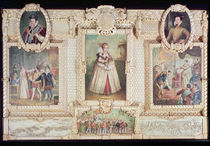 Collection of six miniatures depicting Queen Elizabeth I by English School