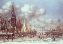 A Winter Scene in Amsterdam von T. & Storck, A. Heeremans