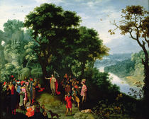 St. John the Baptist preaching in the Wilderness by Pieter Schoubroeck