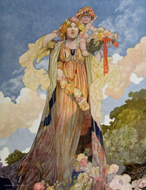 Summer from The Seasons commissioned for the 1920 Pears Annual by Charles Robinson