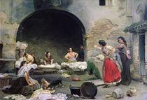 Washerwomen Disputing, 1871 von Jose-Jimenes Aranda