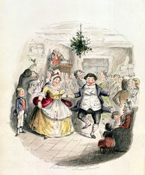 Mr Fezziwig's Ball, from 'A Christmas Carol' by Charles Dickens 1843 von John Leech