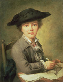 Young draughtsman in black hat by Nicolas-Bernard Lepicie
