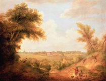 Landscape with house, 18th century von Thomas Gainsborough