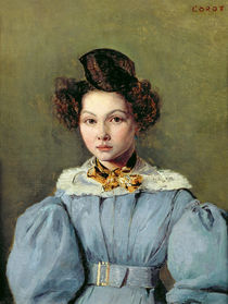 Marie Louise Sennegon, 1831 by Jean Baptiste Camille Corot