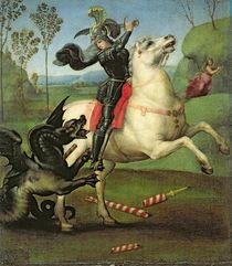 St. George Struggling with the Dragon by Raphael