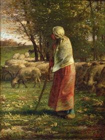 The Little Shepherdess by Jean-Francois Millet