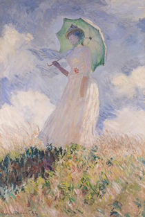 Woman with Parasol turned to the Left von Claude Monet