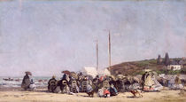 The Beach at Trouville, 1864 von Eugene Louis Boudin
