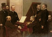 Around the Piano, 1885 von Ignace Henri Jean Fantin-Latour