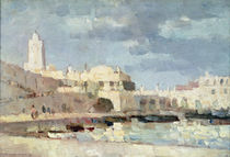 The Harbour at Algiers, 1876 by Albert-Charles Lebourg