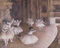 Ballet Rehearsal on the Stage von Edgar Degas