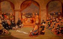 Durbar at Udaipur, Rajasthan by Frederick Christian Jnr. Lewis