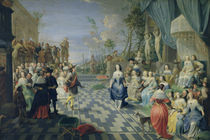 A Ball on the Terrace of a Palace von Hieronymus Janssens