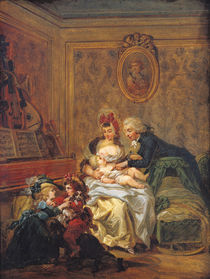 The Satisfaction of Marriage or von Francois Louis Joseph Watteau