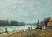 After the Thaw, the Seine at Suresnes Bridge von Alfred Sisley