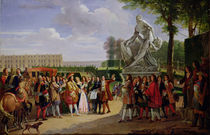Louis XIV Dedicating Puget's 'Milo of Crotona' in the Gardens at Versailles