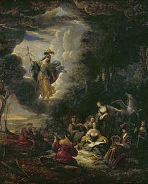 Athena visiting the Muses von Jacob Willemsz de Wet or Wett