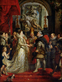 The Proxy Marriage of Marie de Medici and Henri IV 5th October 1600 by Peter Paul Rubens