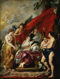 The Birth of Louis XIII at Fontainebleau von Peter Paul Rubens