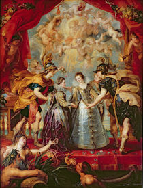 The Medici Cycle: Exchange of the Two Princesses of France and Spain by Peter Paul Rubens