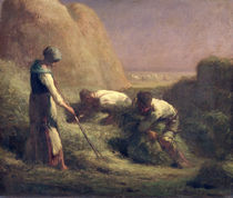 The Hay Trussers, 1850-51 by Jean-Francois Millet