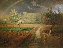 Spring at Barbizon, 1868-73 by Jean-Francois Millet