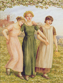 Three Young Girls, 19th century by Kate Greenaway