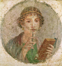 Portrait of a young girl, from Pompeii by Roman