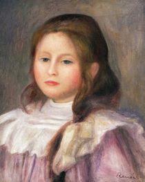 Portrait of a child, c.1910-12 by Pierre-Auguste Renoir