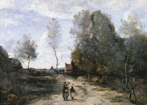 The Road von Jean Baptiste Camille Corot