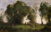 The Dance of the Nymphs von Jean Baptiste Camille Corot