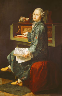 Young Man at the Clavichord by French School