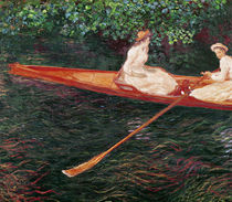 Boating on the river Epte, c.1889-1890 von Claude Monet