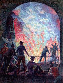 The Steel Works, 1895 von Maximilien Luce