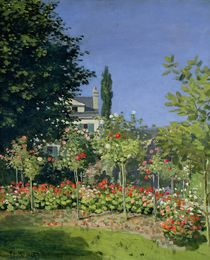 Flowering Garden at Sainte-Adresse von Claude Monet