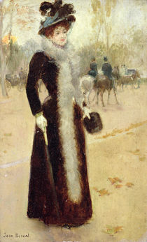 A Parisian Woman in the Bois de Boulogne von Jean Beraud