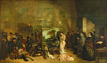 The Studio of the Painter, a Real Allegory, 1855 von Gustave Courbet