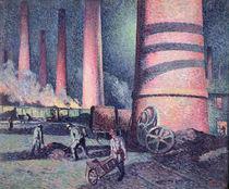 Factory Chimneys, 1896 von Maximilien Luce