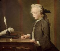 The Child with a Teetotum, Portrait of Auguste-Gabriel Godefroy 1741 by Jean-Baptiste Simeon Chardin