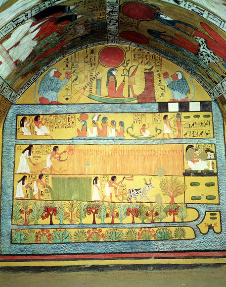 the tomb of sennedjem Interior of the tomb of sennedjem at temple of the artisans at deir el medina in luxor, egypt though every one of the tombs has a prominent sign saying 'no photos,' in many cases an egyptian guide would follow me inside and allow photos in return for baksheesh (a bribe).