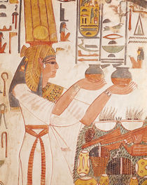 Nefertari Making an Offering by Egyptian 19th Dynasty