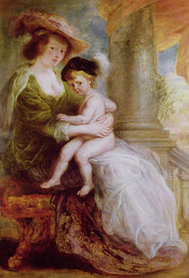 Helene Fourment and her son Frans by Peter Paul Rubens