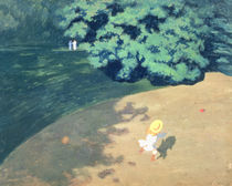 The Balloon or Corner of a Park with a Child Playing with a Balloon by Felix Edouard Vallotton