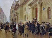 Leaving the Lycee Condorcet by Jean Beraud