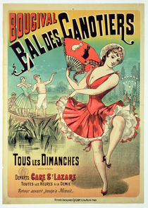 Poster for the 'Bal des Canotiers by French School