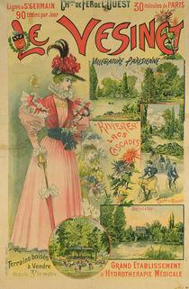 Poster for the Chemins de Fer de l'Ouest to Le Vesinet by Albert Robida