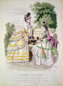 Female fashions, from 'Les Modes Parisiennes' 1870 by French School