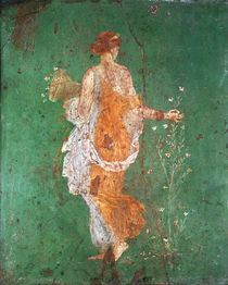 Spring, maiden gathering flowers by Roman